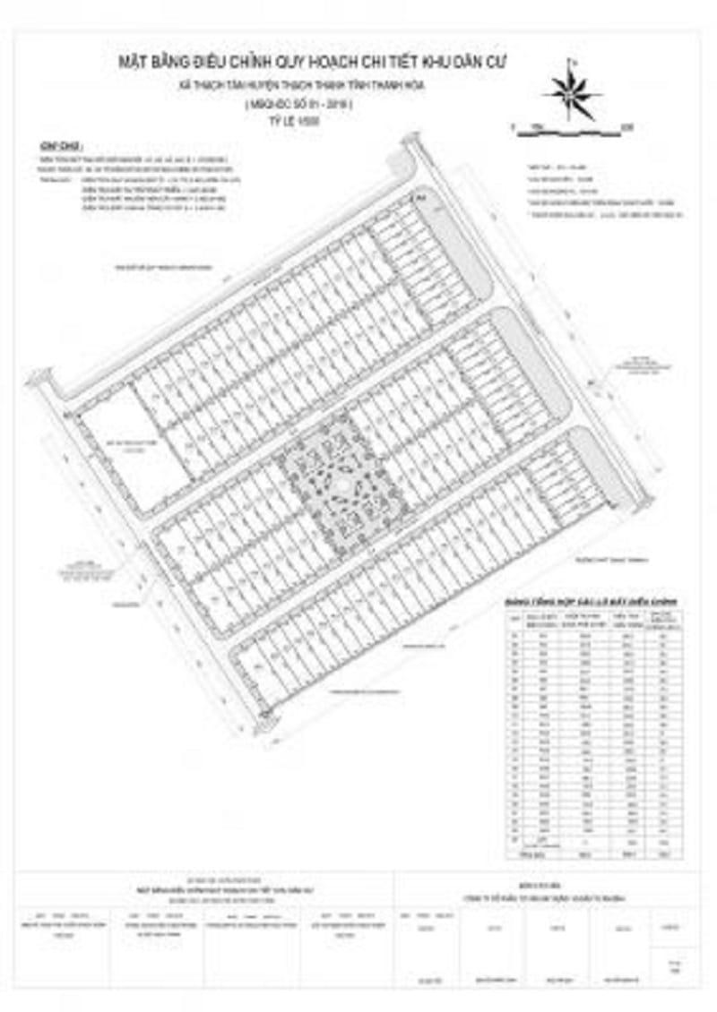 Sơ đồ điều chỉnh quy hoạch chi tiết khu dân cư