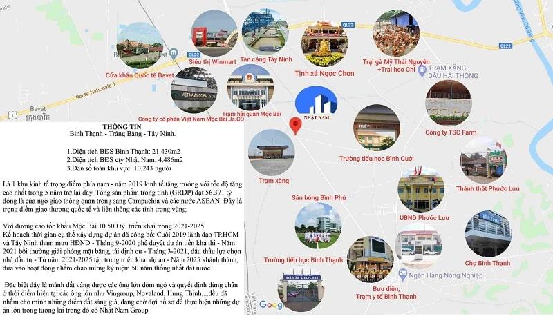 Mặt bằng khu đất Trảng Bàng - Tây Ninh - BĐS Nhật Nam